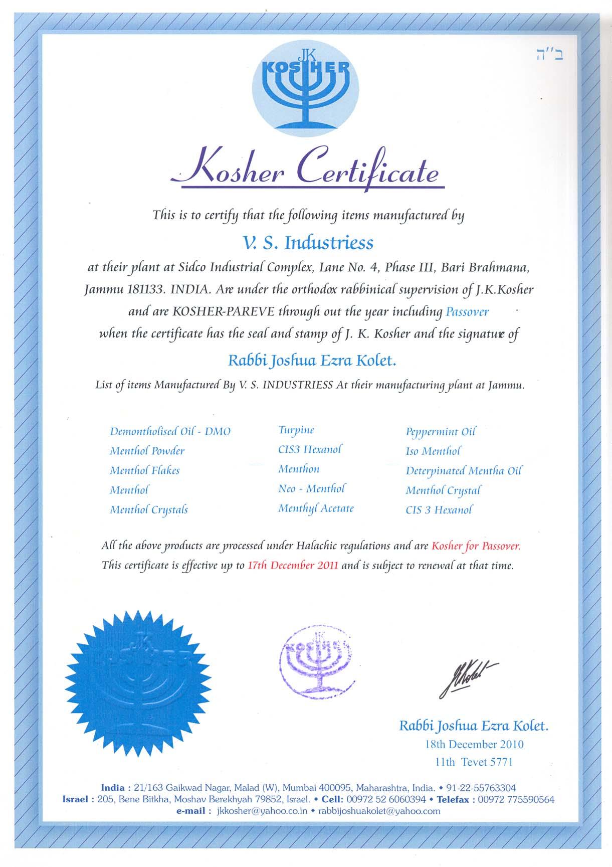 Kosher inspection services india kosher india kosher food certified companies xflitez Images